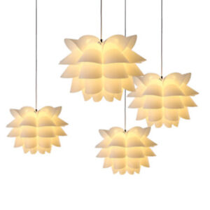 DIY-Pendant-Lotus-Chandelier-Puzzle-Light-Shade-Ceiling-Lampshade-Decor