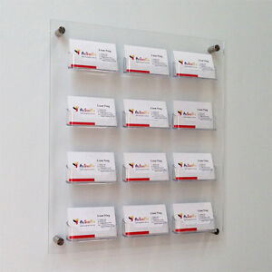 Wall mount business card holders multi pocket acrylic business image is loading wall mount business card holders multi pocket acrylic colourmoves