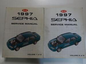 1997-Kia-Sephia-servicio-reparacion-Manual-2-Juego-de-volumen-fabrica-OEM-Libro-97