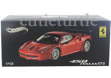 Hot Wheels Elite Ferrari 458 Italia GT2 Launch Version 1:43 Diecast Red X2861