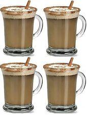 Set 4 FF aroma Latte Macchiato Occhiali Chiaro 385ml irlandese Tè CAFFè CAPPUCCINO TAZZE TAZZE