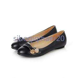 New Chic Womens US Size Round Toe Casual Shoes Flats Multi Color Loafers Size