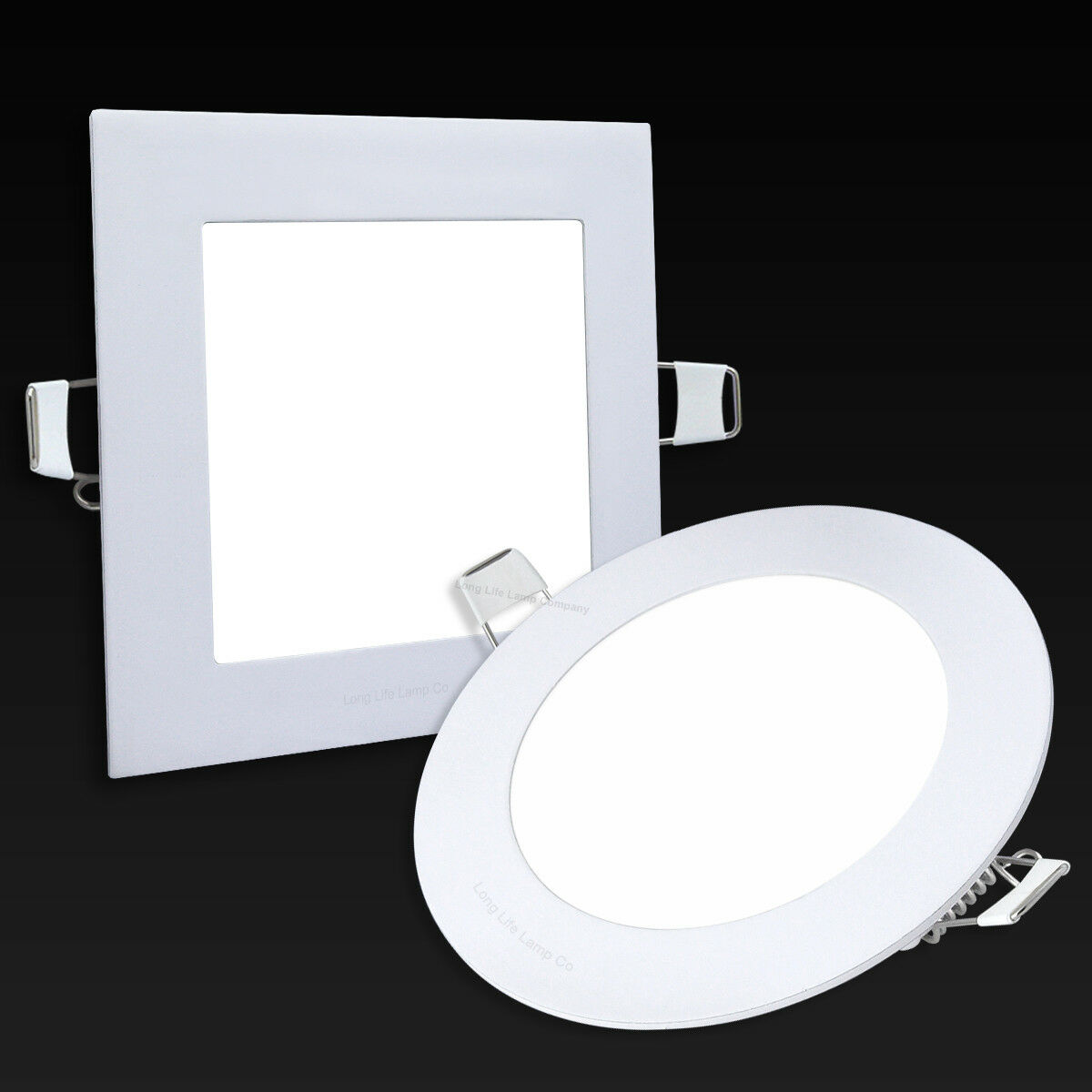6W LED ROUND Or SQUARE Recessed Ceiling Flat Panel Down