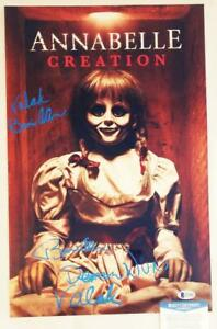 BONNIE-AARONS-SIGNED-11x17-METALLIC-PHOTO-ANNABELLE-THE-NUN-BECKETT-BAS-COA-632