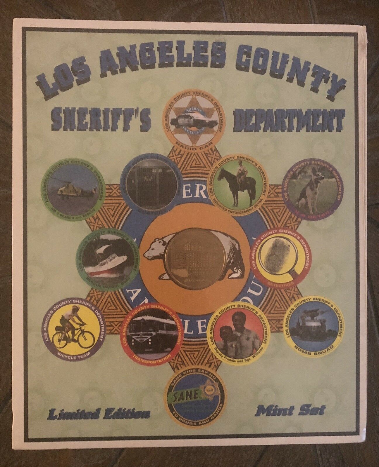 Pog Limited Edition Set Los Angeles County Sheriff Sealed Mint Slammers Tops