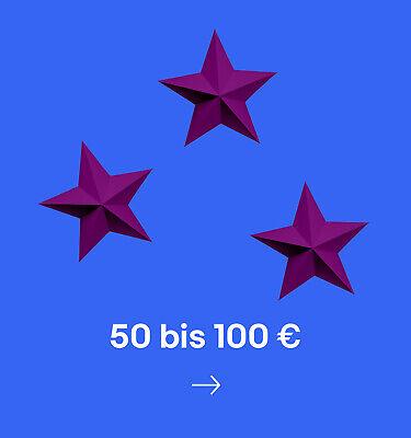 50 bis 100 €
