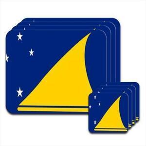 Tokelau-Flag-Set-of-4-Placemats-amp-Coasters