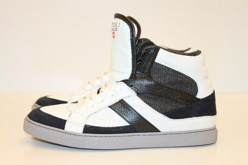 zapatos  - 50% SERAFINI hombres 1444 BIANCO azul MIS.40 pelle 100% invernale