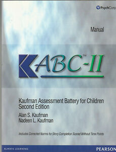Manual Kabc Ii Kaufman Assessment Battery For Children Lc4 Ebay Cognitive assessment battery to screen brain function and cognitive performance. ebay