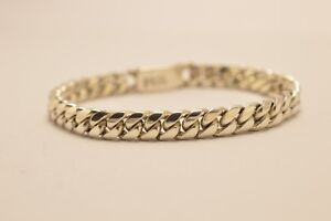 Taxco-Mexican-925-Sterling-Silver-Curb-Chain-Bracelet-33g-18cm-7-1-034