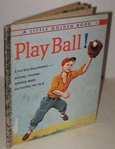 1958-034-Play-Ball-034-Baseball-Little-Golden-Book-1st-Edition-034-A-034