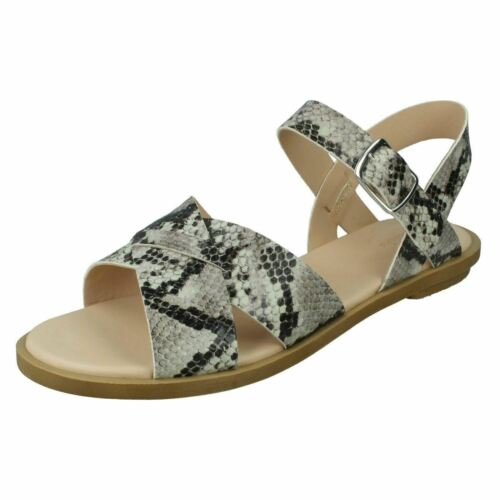 Details about  /Ladies Clarks /'Willow Gild/' Leather Crossover Strap Sandals D Fitting