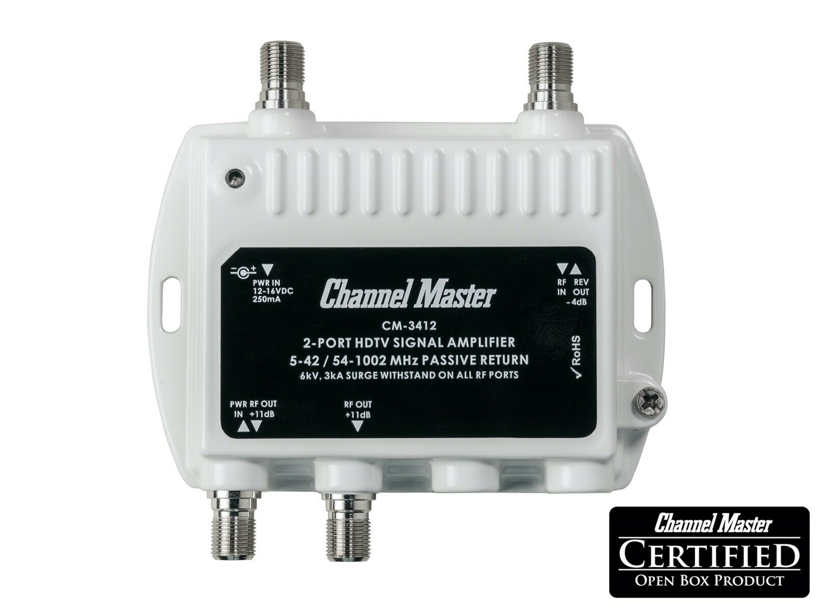 Channel Master Antenna Signal Booster Distribution Amplifier Ultra Mini CM-3412. Available Now for 32.00