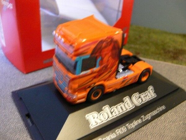 1 87 Herpa Scania R TL tracteur Roland Comte PC 110709