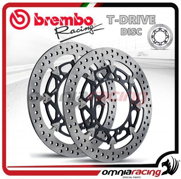 pareja discos Freno Brembo T-Drive ø320 Ducati Hypermotard 1100/S 2007>2011