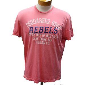 e6071885 Dsquared2 Pink Dsq2 Classic Lake Shore Toronto 'rebels' Men's L   eBay