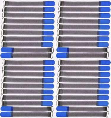 40x Nastro Di Velcro Fascette Per Cavi Fk 20 Cm X 20 Mm Blu Velcro Nastri Cavo Velcro Gancio Di Metallo-mostra Il Titolo Originale Con Metodi Tradizionali