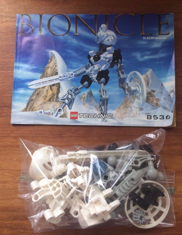Lego Bionicle Kopaka 8536 - 100% Guaranteed  Complete with Instruction Manual