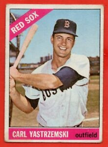 1966 Topps #70 Carl Yastrzemski GOOD CREASE HOF Boston Red Sox FREE SHIPPING