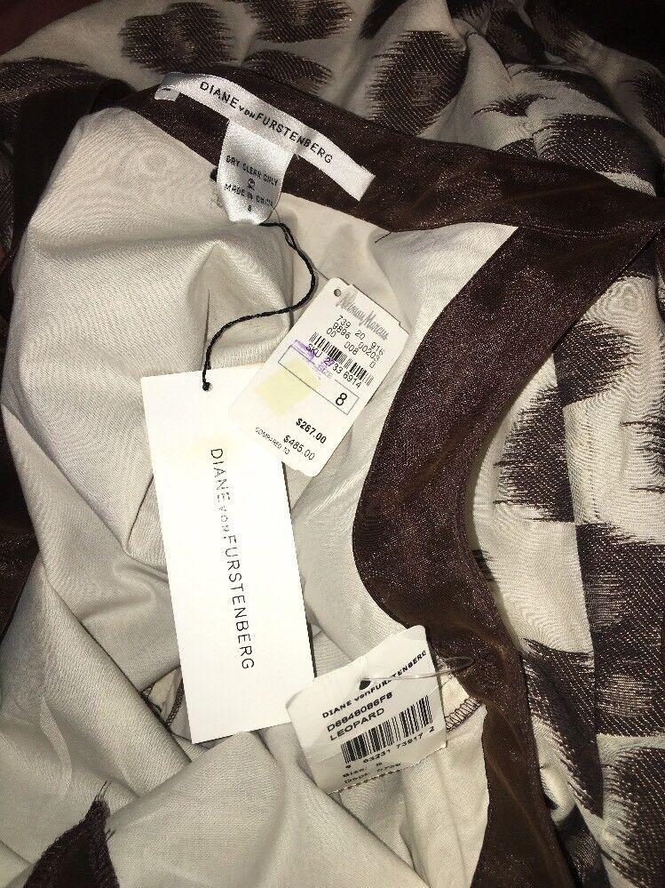 DIANE VON FURSTENBERG DVF 'Cookie' leopard Print Tank Dress Dress Dress Sz 8 NWT  485 7e7cc9