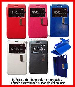 Funda-Libro-con-Ventana-para-HUAWEI-G630-de-Cuero-Funcion-Soporte-Flip-Cover