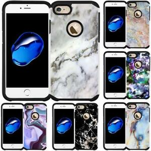 Marble-Design-Slim-Dual-Hybrid-Case-Cover-for-iPhone-5-iPhone-5S-iPhone-SE