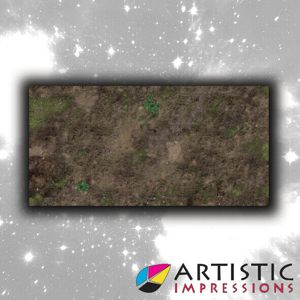 Vinyl 6x3' Decayed Earth Gaming Mat - Ideal for Warhammer