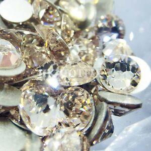 Authentic-Swarovski-Light-Silk-NO-Hotfix-Flatback-Crystal-Nail-Art-Rhinestones