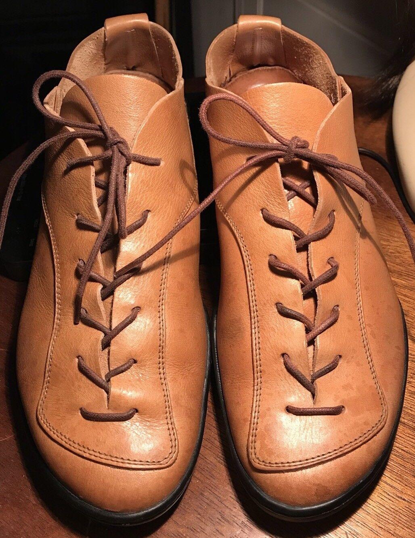 Trippen Cuero Zapatos Con Cordones Cordones Cordones Para hombre 8M/41 Color Camello Raro 4a3fe7