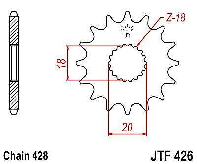 Suzuki GS125 ES 97-00 JT Front Sprocket JTF426 14 Teeth