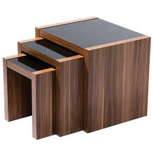 high gloss office furniture.  gloss image is loading fargonestof3tableswalnutveneerblack for high gloss office furniture 3