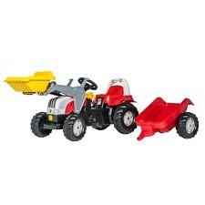 Rolly Toys Steyr 6190 CVT mit Anhänger Traktor Trettraktor mit Frontlader rot