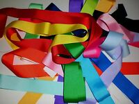 1.5  Inch Grosgrain Ribbon Solid Colors Scraps 35 Pieces.