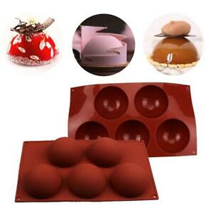 6//15//24 Hole Semi-Sphere Round Silicone Mold Chocolate Bombs Cake Baking Mould