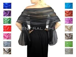 Silky-Iridescent-Wrap-Stole-Shawl-For-Weddings-Bridal-Bridemaids-amp-Evenings-Wear
