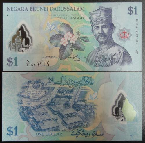 Brunei Polymer Banknote 1 Ringgit 2011 UNC