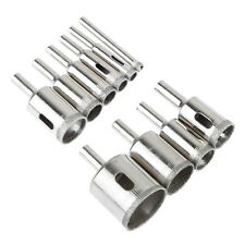NEW 10Pcs 6mm-30mm Diamond Drill Bit Set Glass Tile Marble Granite Hole Saw Tool
