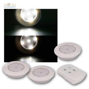 3-LED-Unterbauleuchten-warmweiss-Fernbedienung-Batteriebetrieb-Unterbaustrahler