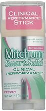 6 Pack Mitchum Smart Solid Clinical Performance Powder Anti-Perspirant 2.5 Oz Ea