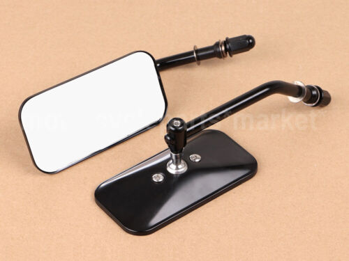 Motorcycle Vintage Side Rear View Mirrors 8mm for Harley Sportster Dyna Fatboy