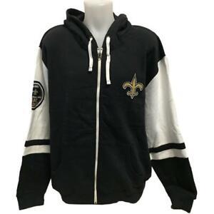 Details About Nfl Men S New Orleans Saints Zipper Hoody Sweatshirt Small 2x Hoodie Logo
