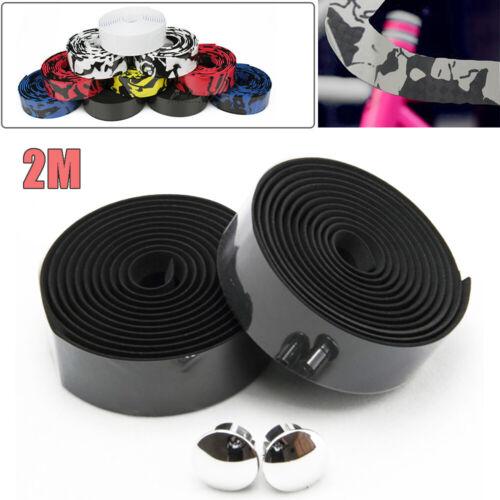 2Roll Road Bike Handlebar 2M Wrap Bar Tape Bandage Belt Grips Non-slip 6 Colors
