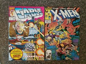 CABLE-BLOOD-amp-METAL-1-amp-XMEN-238-MARVEL-COMICS-LOT-of-2-NM