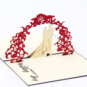 3d handmade pop up wedding birthday festival party invitations image is loading 3d handmade pop up wedding birthday festival party m4hsunfo