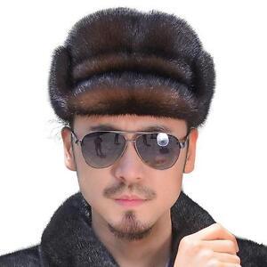 luxe b r t homme luxe bonnet fourrure en vison v ritable russe style chapeau ebay. Black Bedroom Furniture Sets. Home Design Ideas