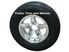 """BOSR 215/75R14 LRD Radial Trailer Tire on 14"""" 5 Lug Aluminum Trailer Wheel"""