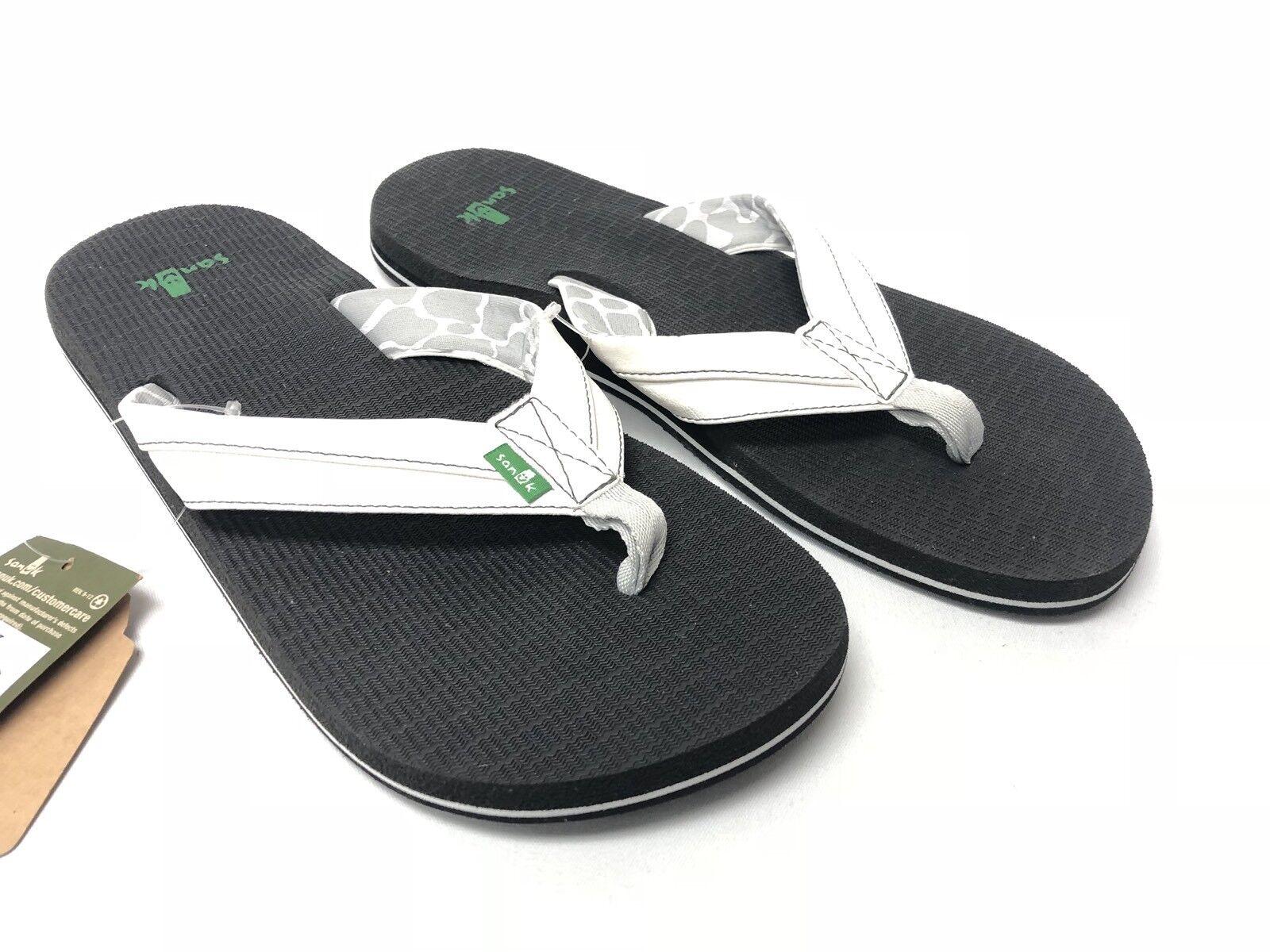 30e421afb186 Sanuk Sanuk Sanuk Beer Cozy Men s Flip-Flops Thong Sandals Shoes White  SMS10412 SLIP ON NEW ca5454