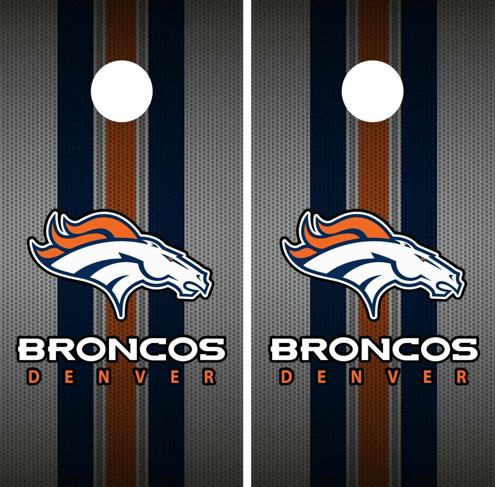 Denver Broncos Cornhole Wrap NFL Team Flag Game Skin Board Set Vinyl Decal CO64