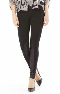 036c95e3385 New HALE BOB  139 Black Lilah Ponte   Faux Suede Leather Leggings ...