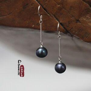 Pendientes-Fino-perla-cultivada-Barroco-Gris-Negro-925-Clase-7